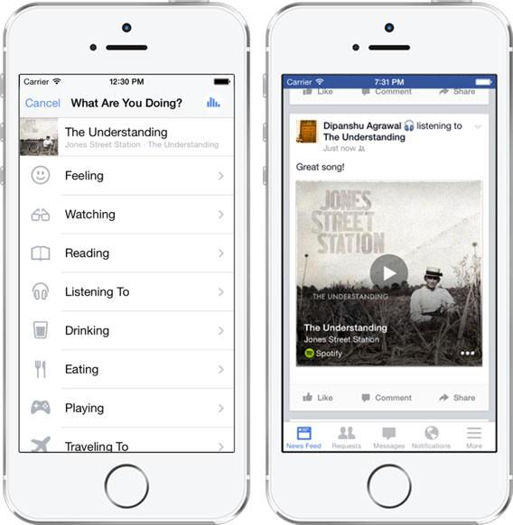 Facebook: Automatische Musikerkennung Screenshot