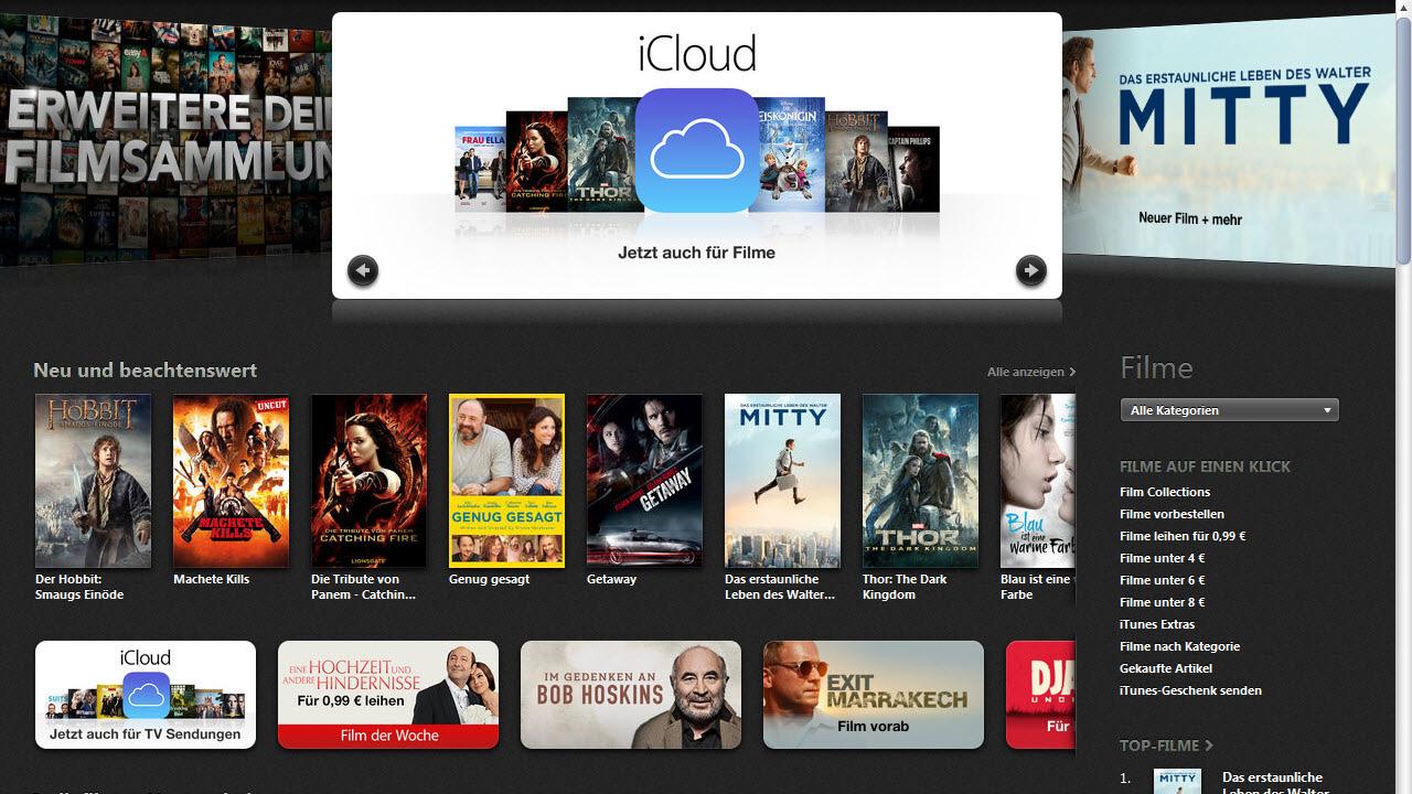 iTunes in der Cloud jetzt auch in Deutschland mit Videos und Fernsehserien