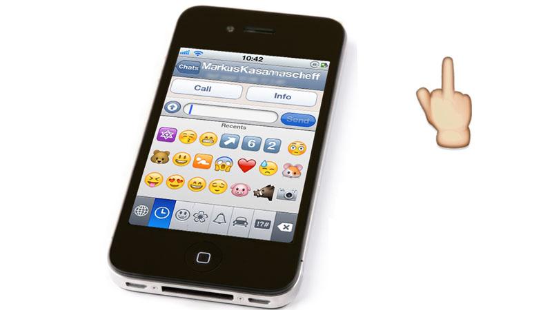 Neue Smileys und Emoji inklusive Mittelfinger für Chat-Apps wie WhatsApp und Telegram