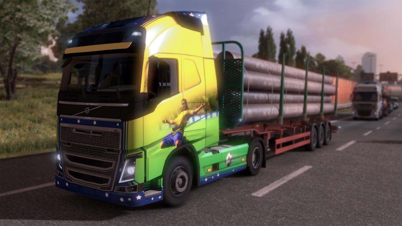 Euro Truck Simulator 2: Zur Weltmeisterschaft 2014 in Brasilien den Truck mit Fußball-Designs schmücken