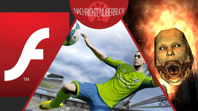 Adobe Flash Player 14, Trailer zu Doom 4, FIFA 15 Ultimate Team mit Ausleihen von Spielern