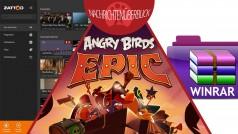Angry Birds Epic startet heute, WinRAR 5.10, Zattoo Live TV für Windows Phone verfügbar