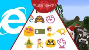Internet Explorer Beta-Version, 250 neue Smileys kommen bald, Details zu kostenpflichtigen Minecraft-Servern