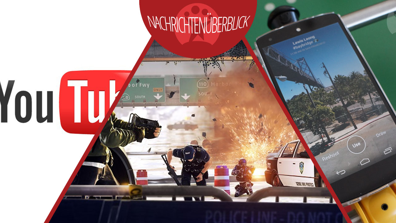 News des Tages: Facebook Slingshot, YouTube Musik-Streaming, Battlefield: Hardline-Beta