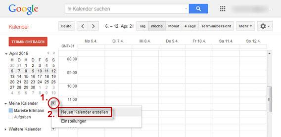 neuen Kalender in Google Kalender erstellen