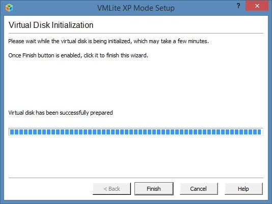 Installation du disque virtuel