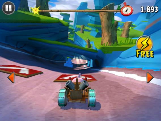 Angry Birds Go! jetzt auch mit Multiplayer-Wettrennen