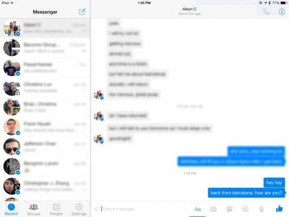 Facebook Messenger: Die Chat-App ist jetzt auch für iPad verfügbar