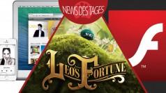 News des Tages: Safari blockiert Adobe Flash Player, iTunes 11.3, Leo's Fortune für Android