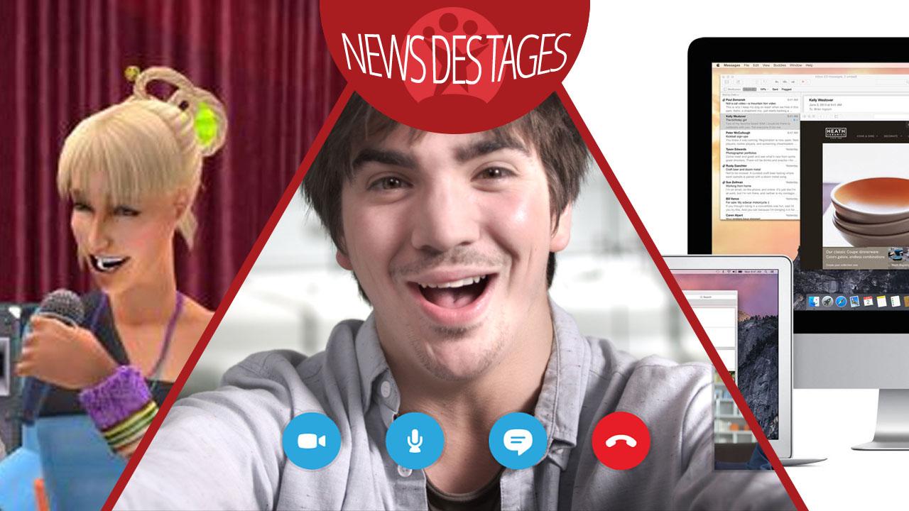 News des Tages: OS X Yosemite, Skype für Android, Die Sims 2 kostenlos