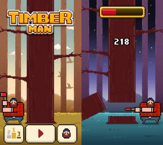 Timberman: Das Baumfäller-Spiel mit Suchtfaktor schlägt Flappy Bird kurz und klein