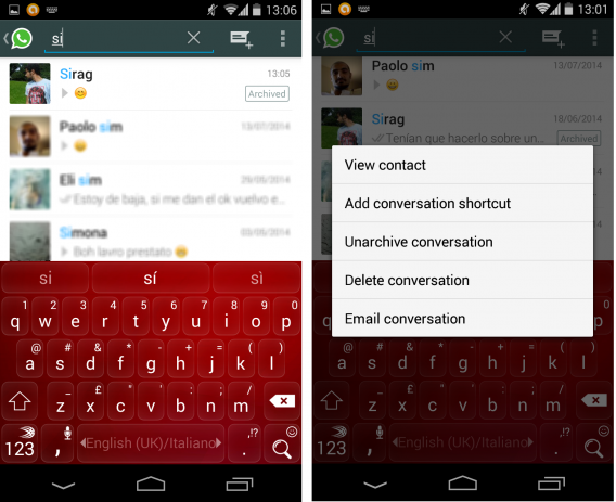 WhatsApp: Chats archivieren mit der Android-Version der Messenger-App