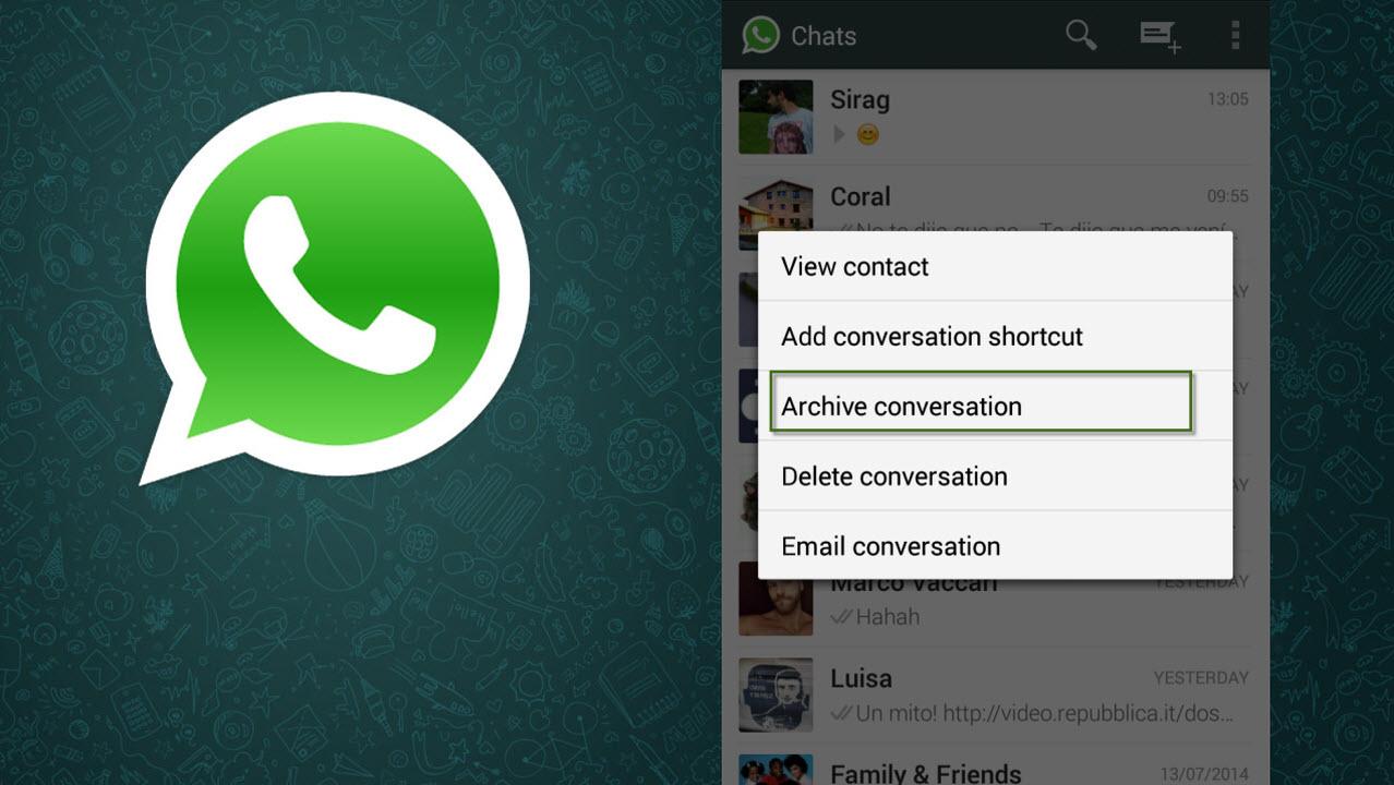 Whatsapp Für Android Erlaubt Das Archivieren Von Chats