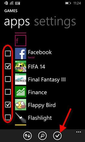 Selecione os seus aplicativos favoritos