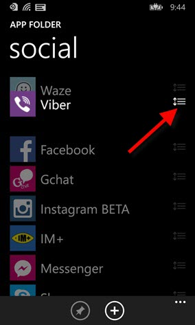 Apps mais importantes podem ser alocados para o topo da lista