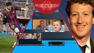 News des Tages. Kostenlose Bildschirmfreigabe in Skype, Drama um Facebook Messenger und Details zum Team-Management in FIFA 15