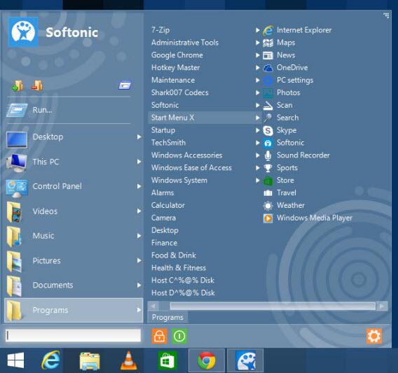 Menu Inicial do Start Button 8 para Windows 8