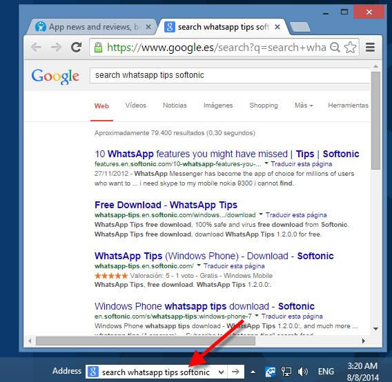 Sélection du moteur de recherche à partir des mots-clés
