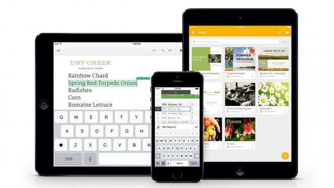 Google Slides für iOS und Microsoft Office-Dokumente ohne Konvertierung mit Google Docs und Tabellen bearbeiten