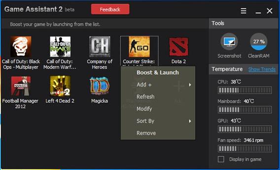 IObit Game Assistant 2 optimiert und schützt Gaming-PCs und Laptops vor Überhitzen