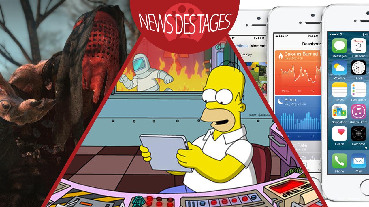 News des Tages: The Witcher 3, Neue Beta-Version von iOS 8, Die Simpsons: Springfield