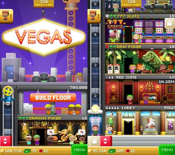 Tiny Tower Vegas: Das kostenlose Aufbauspiel in der Glücksspiel-Variante für iOS