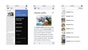 Wikipedia für iOS: Großes Update mit Editier-Funktion und Offline-Modus
