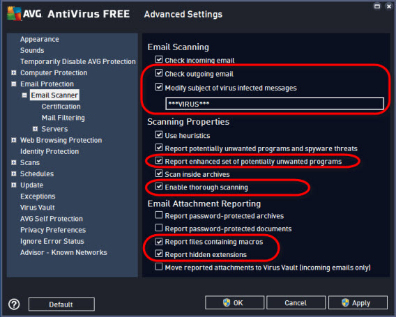 AVG open advanced settings 00