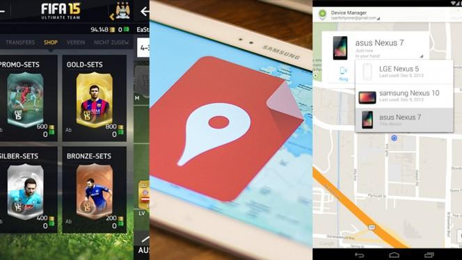 Android-Apps der Woche: FIFA 15, eigene Google Maps und verlorene Smartphones finden