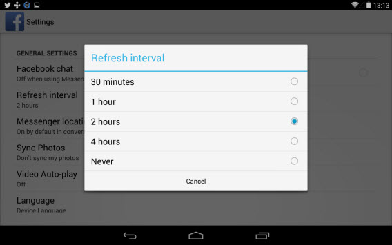 Android zużycie baterii