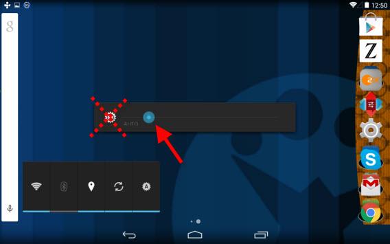 Android automatyczne ustawienie jasności