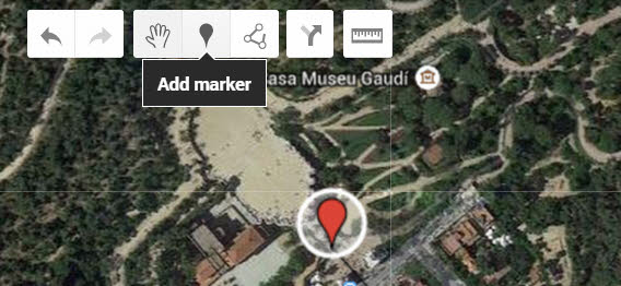 Google My Maps Add marker tool