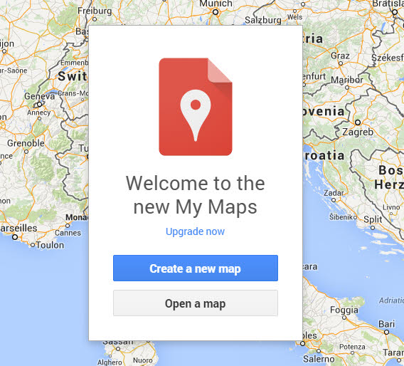 Google My Maps start