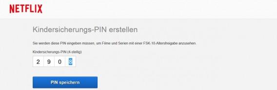 Netflix PIN - uniquement en Allemagne