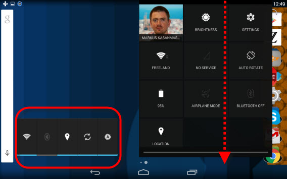 Android bluetooth, wi-fi