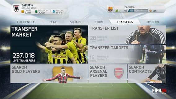 FIFA 15: Die Web-App zum Spiel-Modus Ultimate Team startet am 17. September 2014 und öffnet den Transfermarkt