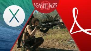 News des Tages: Kritisches Sicherheitsupdate für Adobe Reader, Mac OS X 10.9.5, Metal Gear Solid 5