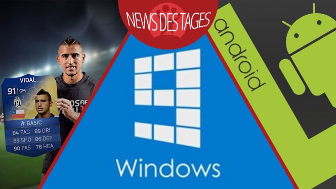 News des Tages: Windows 9 mit buntem Start-Menü, Android L mit Verschlüsselung, FIFA 15 Ultimate Team Web-App