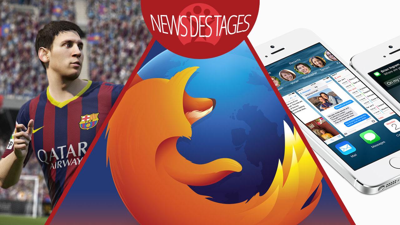 News des Tages: Probleme mit iOS 8.0.1, Mozilla Firefox und Thunderbird Sicherheitslücken, FIFA 15
