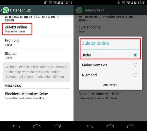 WhatsApp für Android und iOS setzt die Einstellungen zur Privatsphäre zurück