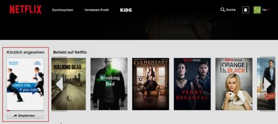 Netflix Zuletzt Gesehen
