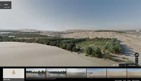 Reisen Sie mit Google Maps und Street View auf dem Kamel zur Liwa-Oase