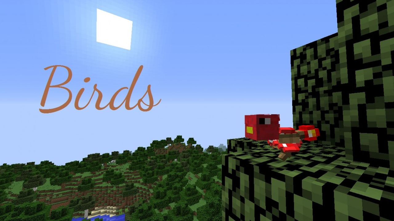 Minecraft Mit Der BirdsSpielerweiterung Können Sie Vögel Als Neues - Minecraft bogen spiele