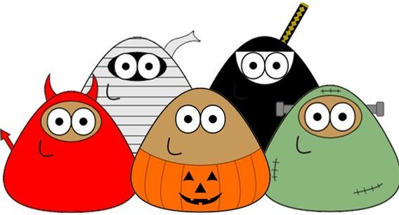 Das virtuelle Haustier Pou erhält zu Halloween neue Kostüme und Inhalte
