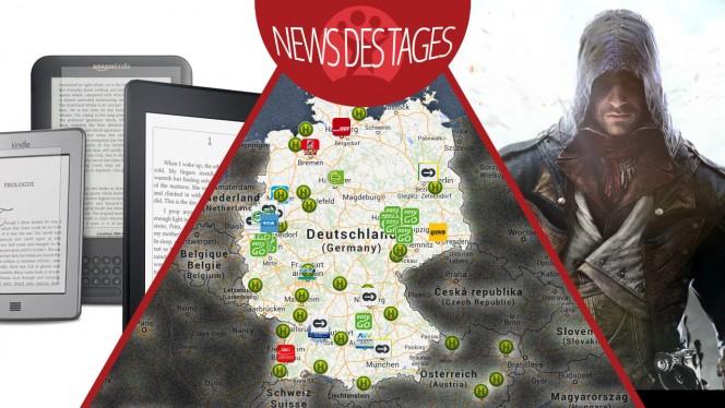 News des Tages: Apps zum Bahnstreik, eBook-Flatrate Kindle Unlimited, Assassin's Creed: Unity