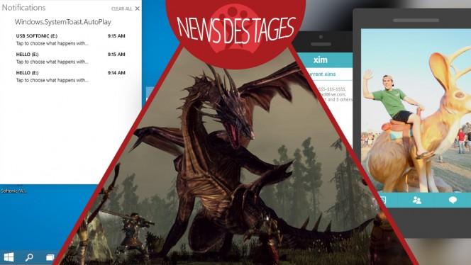 News des Tages: Windows 10 Benachrichtigungscenter, Microsoft Xim, Dragon Age: Origins kostenlos