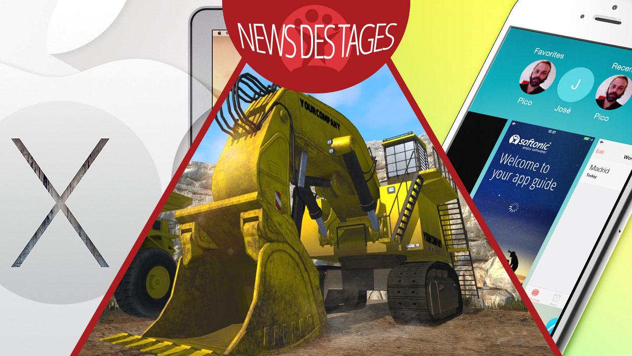News des Tages: Mac OS X 10.10 Yosemite mit neuer iWorks-Version, iOS 8.1 Update, Bagger-Simulator