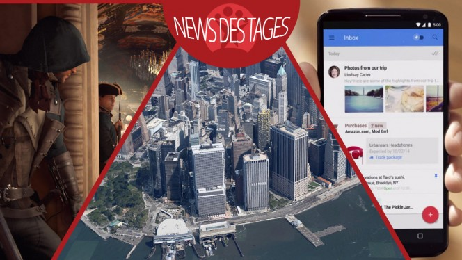 News des Tages: Google Inbox, Google Earth für Android, Assassin's Creed: Unity