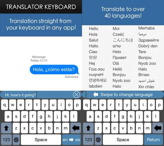 Die Tastatur-App Translator Keyboard für iOS 8 erleichtert Fremdsprachen-Eingaben mit automatischer Übersetzung