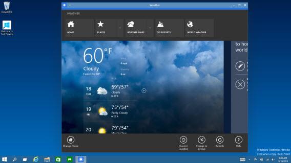 Aplicativos rodando em janelas no Windows 10